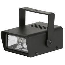 Clear Led Mini Adjustable Halloween Strobe Light
