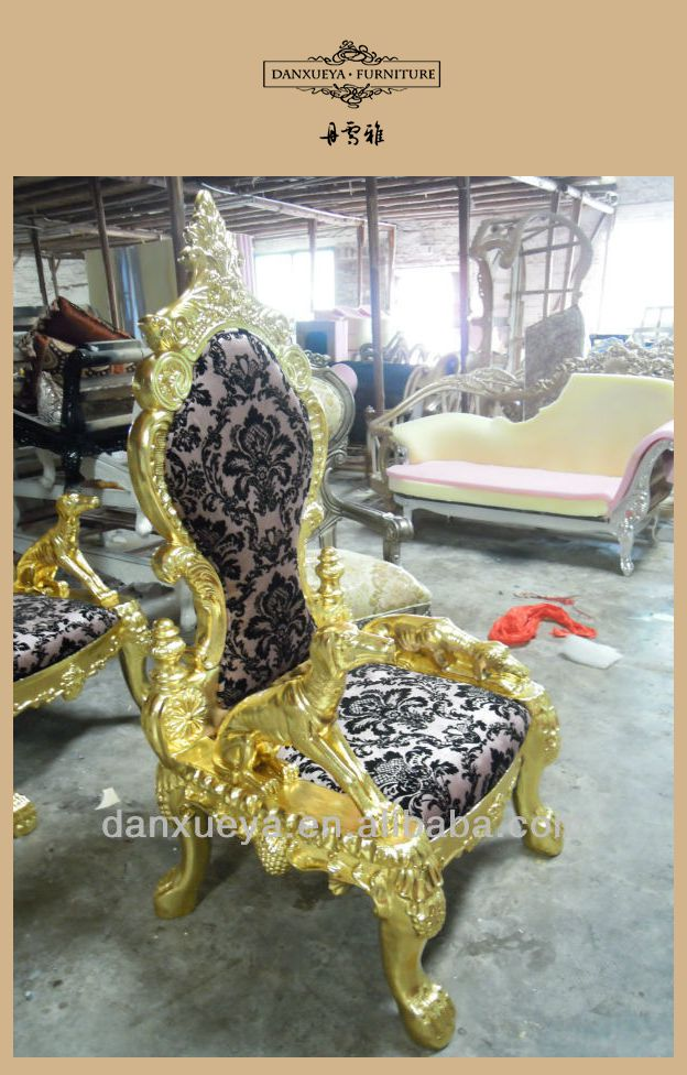 2013 Royal Gold Antique Design King Throne Chair For Sale B05# - 2013 Royal Gold Antique Design King Throne Chair For Sale B05