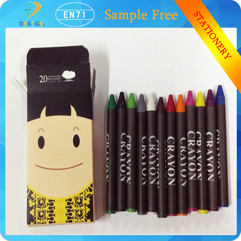 cartoon new 12 color oil pastel non toxic crayons for children
