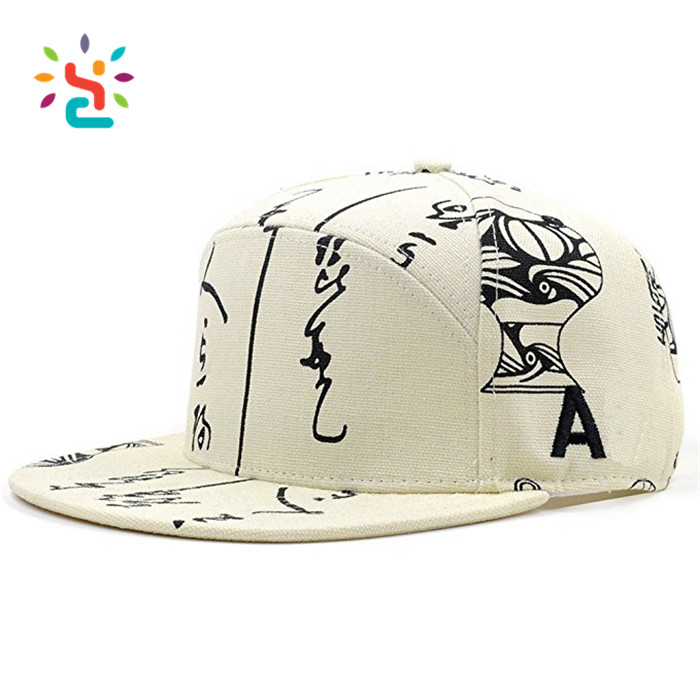 Washed cotton snapback caps wholesale Full dull poly textured oxford baseball hats custom 6 panel custom pattern snapbacks caps
