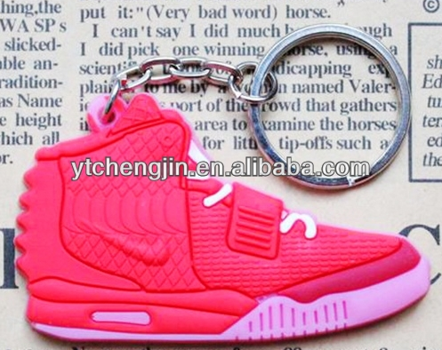 pink red sole yeezy jordan sneaker shoes keychain cheap hot sale