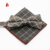 Mens Checked Pattern Cotton Pocket Square Bowtie