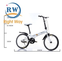 2018 New Carbon Fiber 20 Inch Folding Mountain Bike for Adults