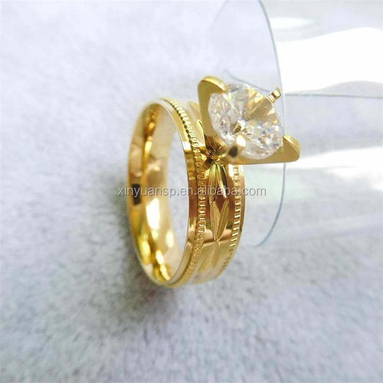 Dubai Gold Ring Designs Dubai Wedding Rings With Big Cz Rhinestone