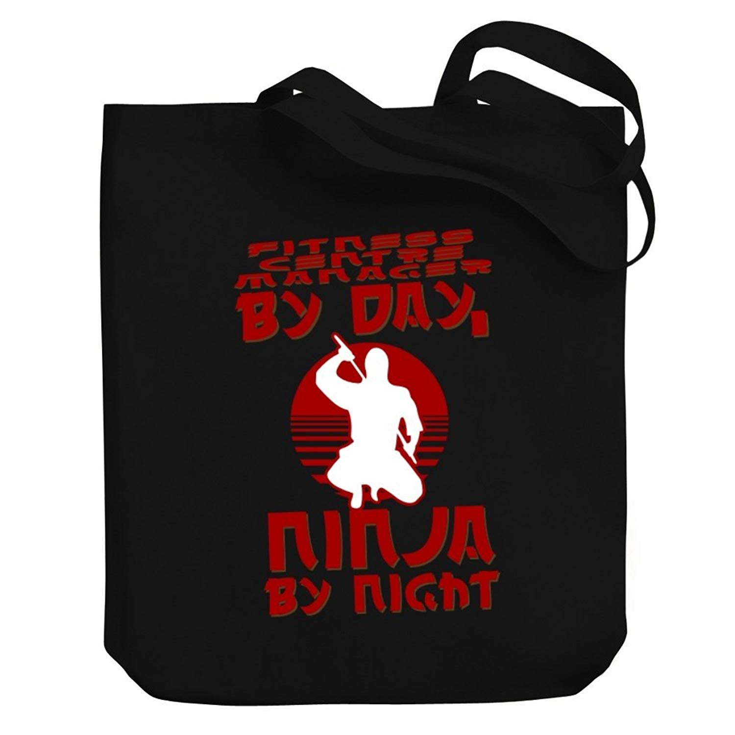 Teeburon Fitness Centre Manager by day, ninja by night Canvas Tote Bag