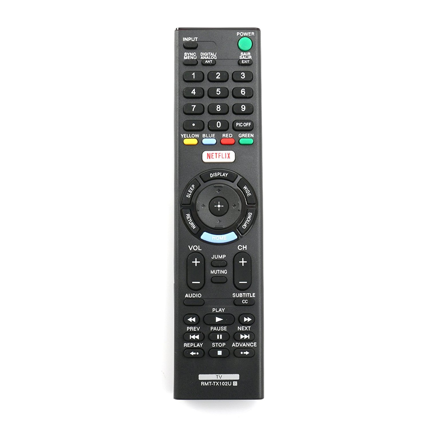 New RMT-TX102U Replace Remote Control fit for Sony TV KDL-32R500C KDL-40R510C KDL-40R530C KDL-40R550C KDL-40W600D KDL-48R510C KDL-48R530C KDL-48R550C KDL-55W6500