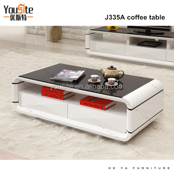Indonesia Furniture Coffee Table White Wood Fancy J335a
