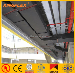 Kingflex black rubber foam flexible insulation rubber lining sheet roll