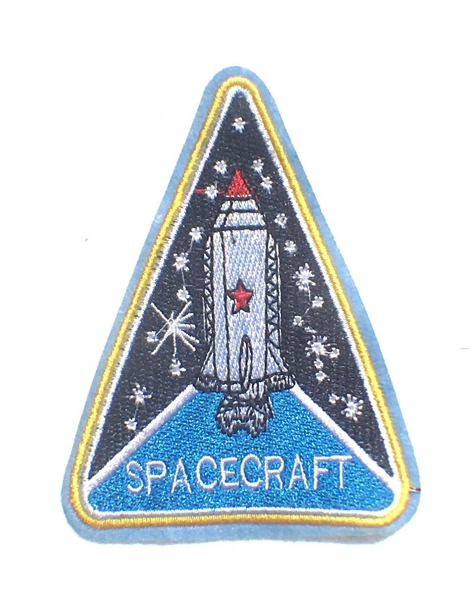 CooL Space Craft Spaceship spacecraft style sew on patch 4.5x3.5 space travel sew on patches