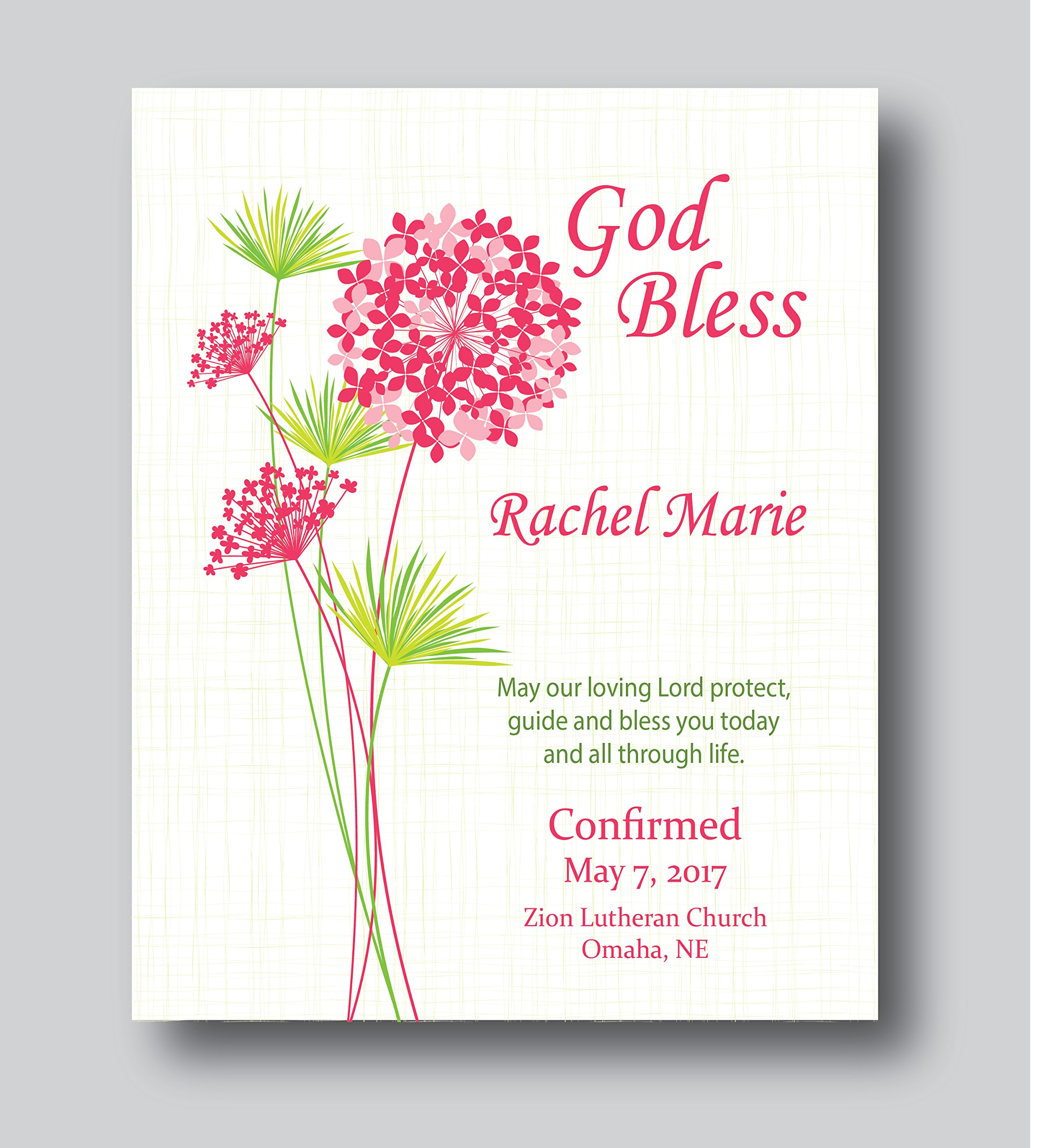 Get Quotations · Personalized Communion Gifts For Girls, Confirmation Personalized Confirmation Gifts Girls, 8x10 or 11x14 Print