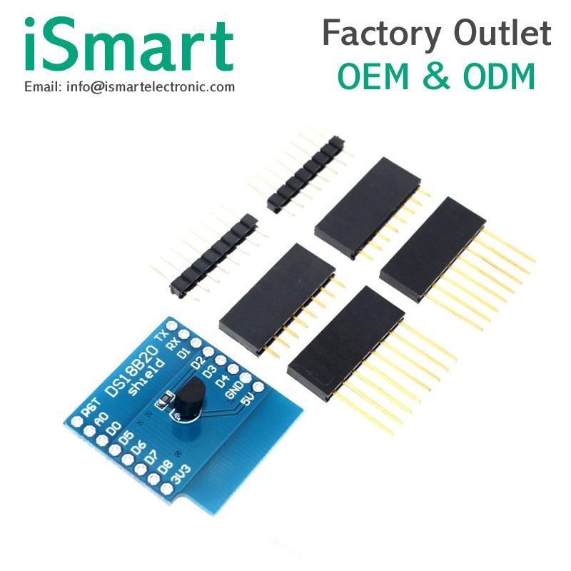 DS18B20 temperature sensor module measurement module FOR WeMos D1 mini WIFI  extension board learning board, View module temperature, iSmart Product