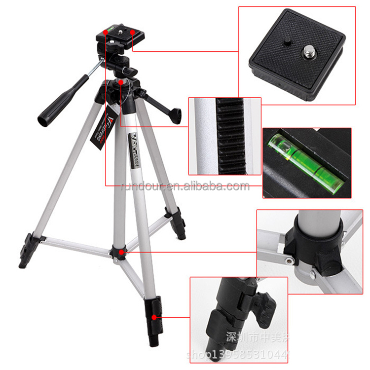 2017 new style Professional Metal WT3110A Aluminum Tripod Keeps your tripod steady on any surface