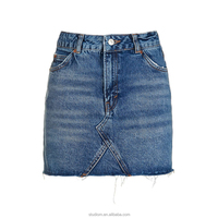 Summer ladies fashion design short jean mini skirt
