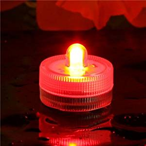 Eastchina | Red Color Submersible Led Tea Light | Waterproof LED Candels | Underwater Led Candels | Battery Operated Submersible Led Tea Light| Pack of 12 Pcs | Great for Wedding Centerpiece,Holidays Party Celebration, Thanksgiving, Party Lights