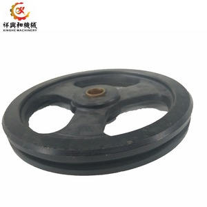 large v belt/electric motor/step iron the pulley sand casting products for car/auto parts