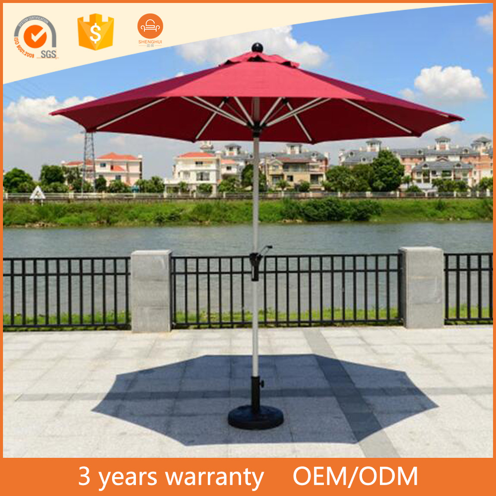 Eco-friendly sun parasol and rain polyester high quality beach outdoor dining table garden umbrella