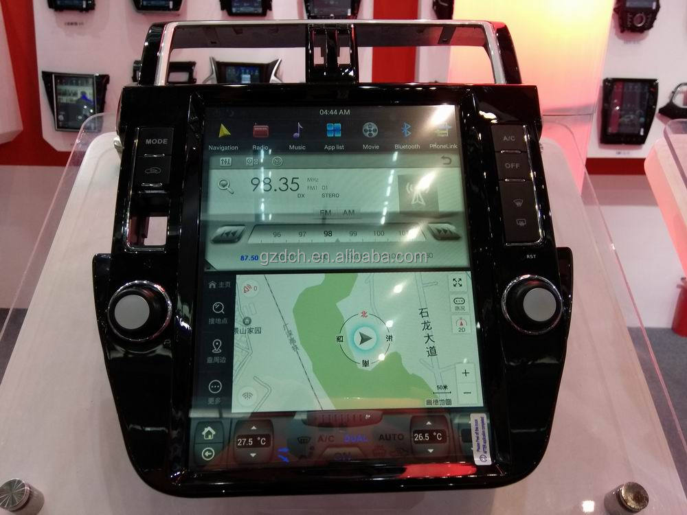 12.1 inch 1280*800 android car dvd player for <strong>Toyota</strong> Land Cruiser <strong>Prado</strong> 2014-2016 tesla screen style quad core 32G WS-1213
