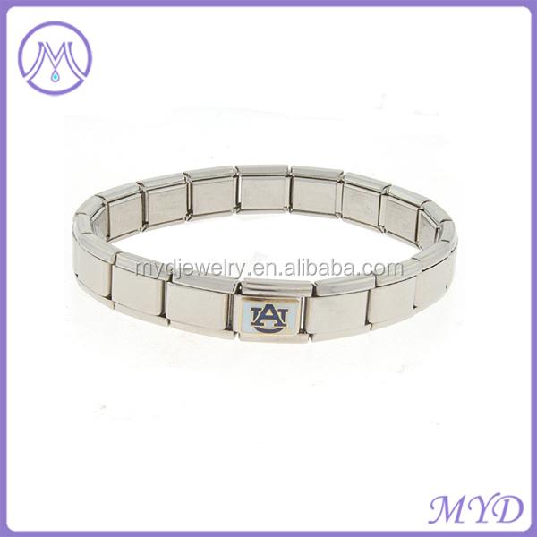 Italian Charm Starter Bracelet Stainless Steel Jewelry