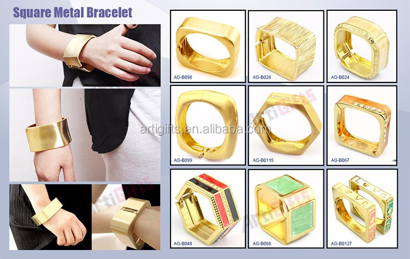 Factory direct sale custom wholesale friendship ladies jewelry metal bracelets