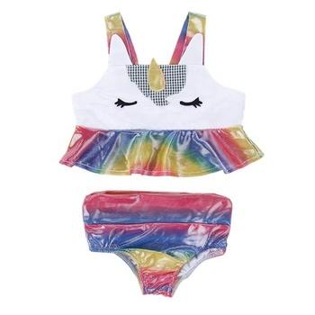1491a36b01f6b Personalized Two Piece Toddler Rainbow Unicorn Kids Swimsuit - Buy ...