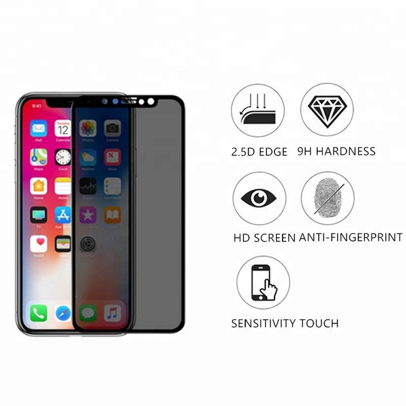 Alto claro de privacidad de Protector de pantalla de vidrio templado para Oppo encuentra X2 Pro A52 verdadero yo C3