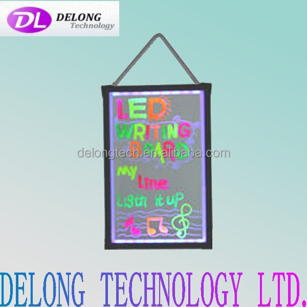 CE RoHS 60X40cm remote control and hand control hanging acrylic led sign board