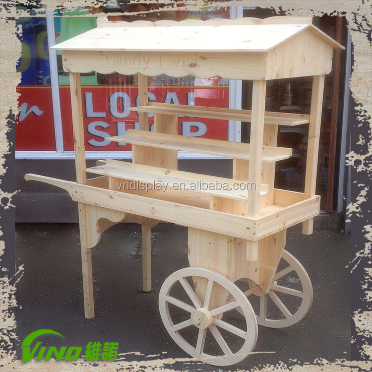 Wooden Candy Table ~ Newly wedding candy cart wooden handle