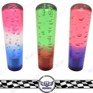 Special Multiple Color Crystal Acrylic Shift Knob Car Bubble Drift Gear Knob With LED