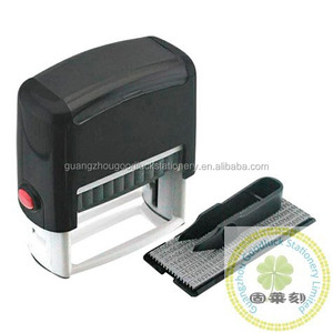 Office Rubber Self-inking Stamp Kit/DIY text rubber stamp set with Tweezers