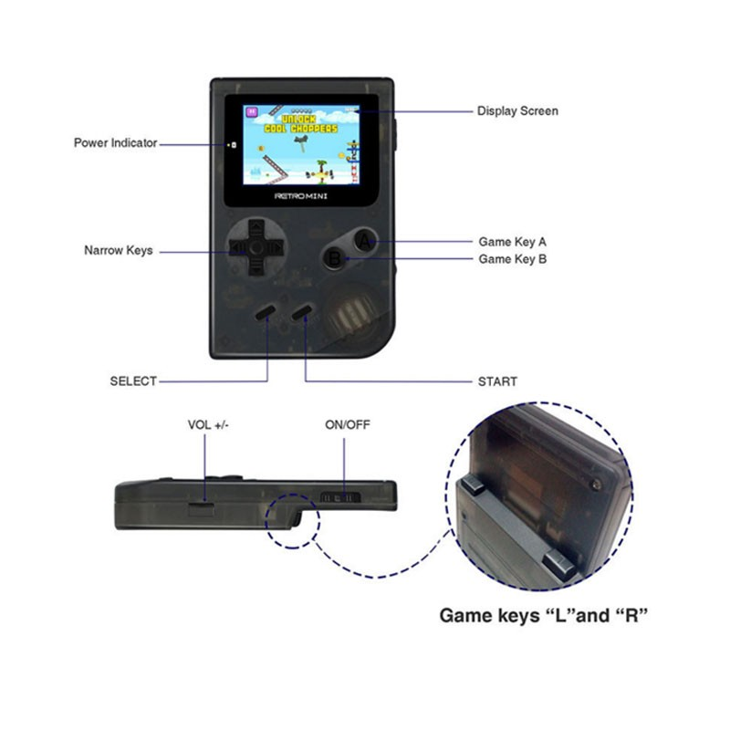 2018 32 Bits Retro Handheld Game Console Built-in 40 Classic For Gba Games  Support Tf Card Download Video/ Music/ E-book - Buy Handheld Game Console