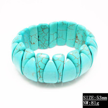 Fashion arm candy bracelets sport id bracelet light blue stones chain bracelet