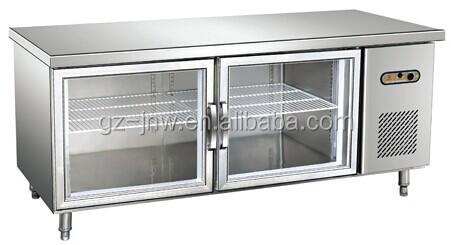 Restaurant Kitchen Refrigerator stainless steel under counter fridge/ refrigerated work bench