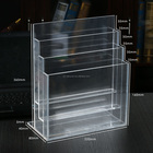 Multi Tiers Clear acrylic Display Rack Stand Acrylic Brochure Holder Display