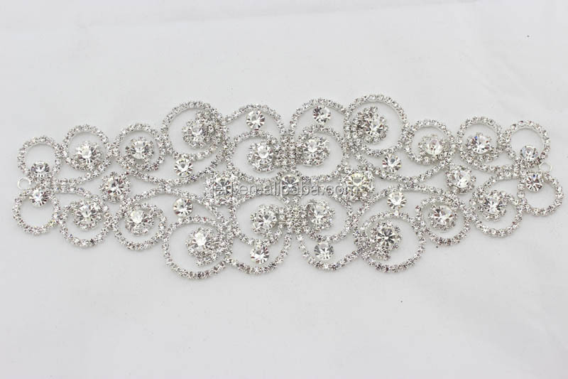 Wholesale embroidery flower rhinestone lace motif design