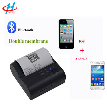 HY-8001 80mm goedkope mini android ios ontvangst ticket bluetooth mobiele thermische printer