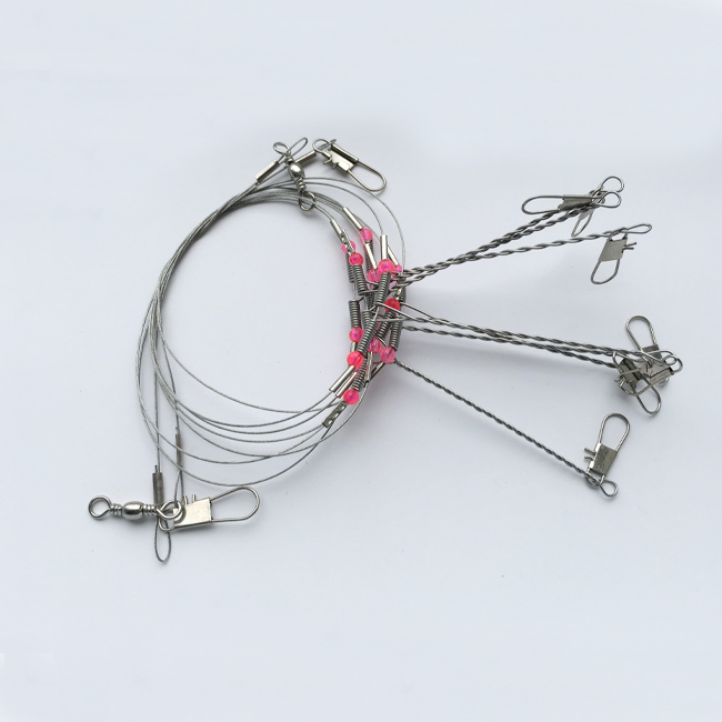 Steel String Rope Wire Fishing Wire Line Leader Trace With Snap Safety Snaps