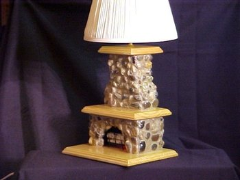 Custom Stone Fireplace Table Lamp Buy Table Lamp Product On