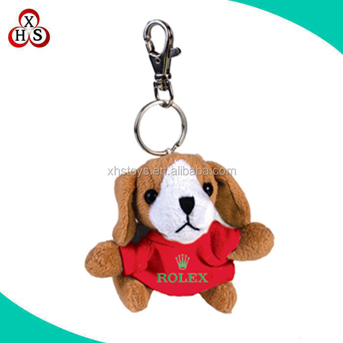 Lovely Plush Dog Keychain In High Quality