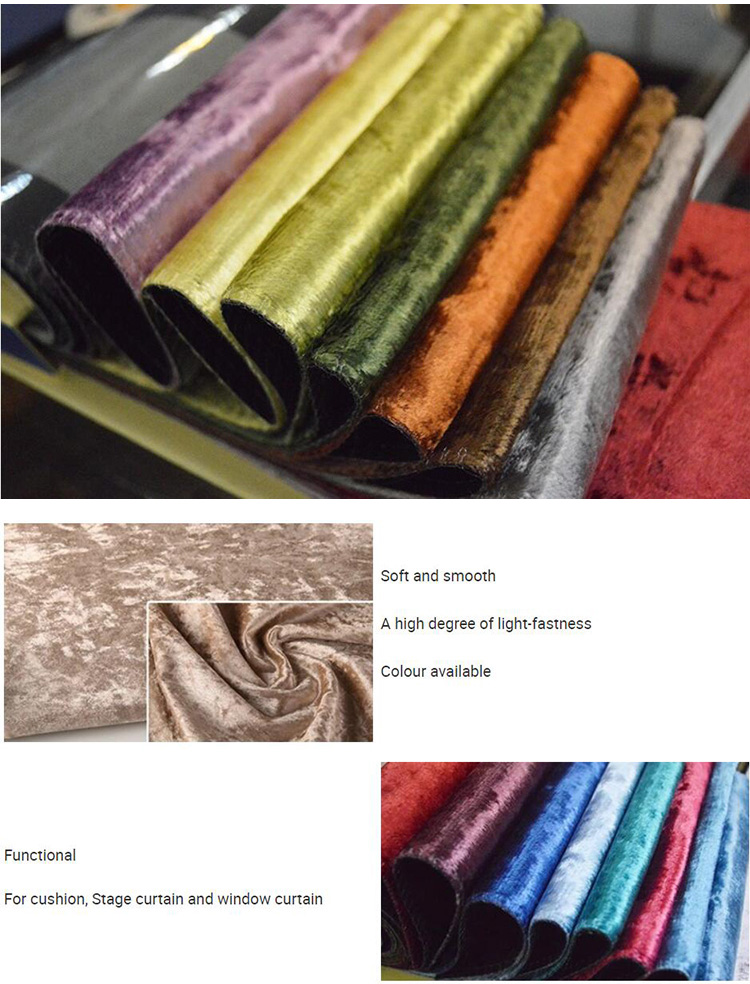 More colors choice fireproof blackout velvet curtain for bedroom