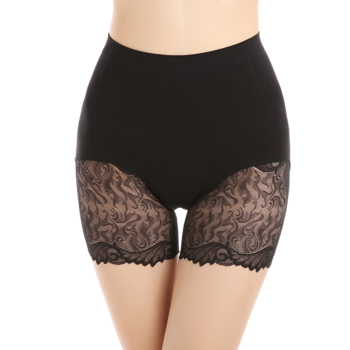 middle waist thin women black lace shapers with 3 colors and 2 size