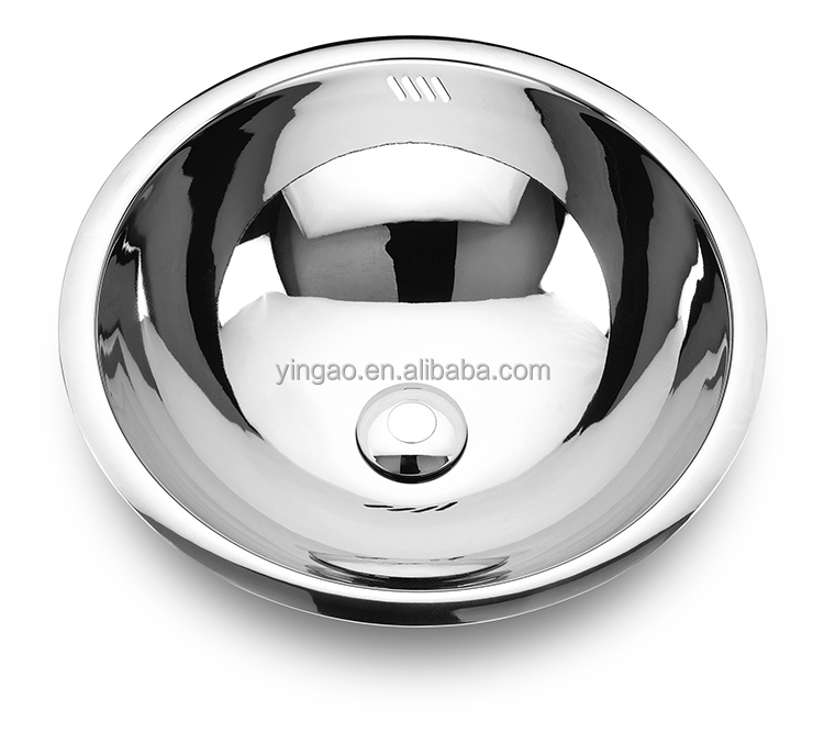 Kitchen Custom Made Hand Wash Basin Stainless Steel Small Round Hand Basin Sinks