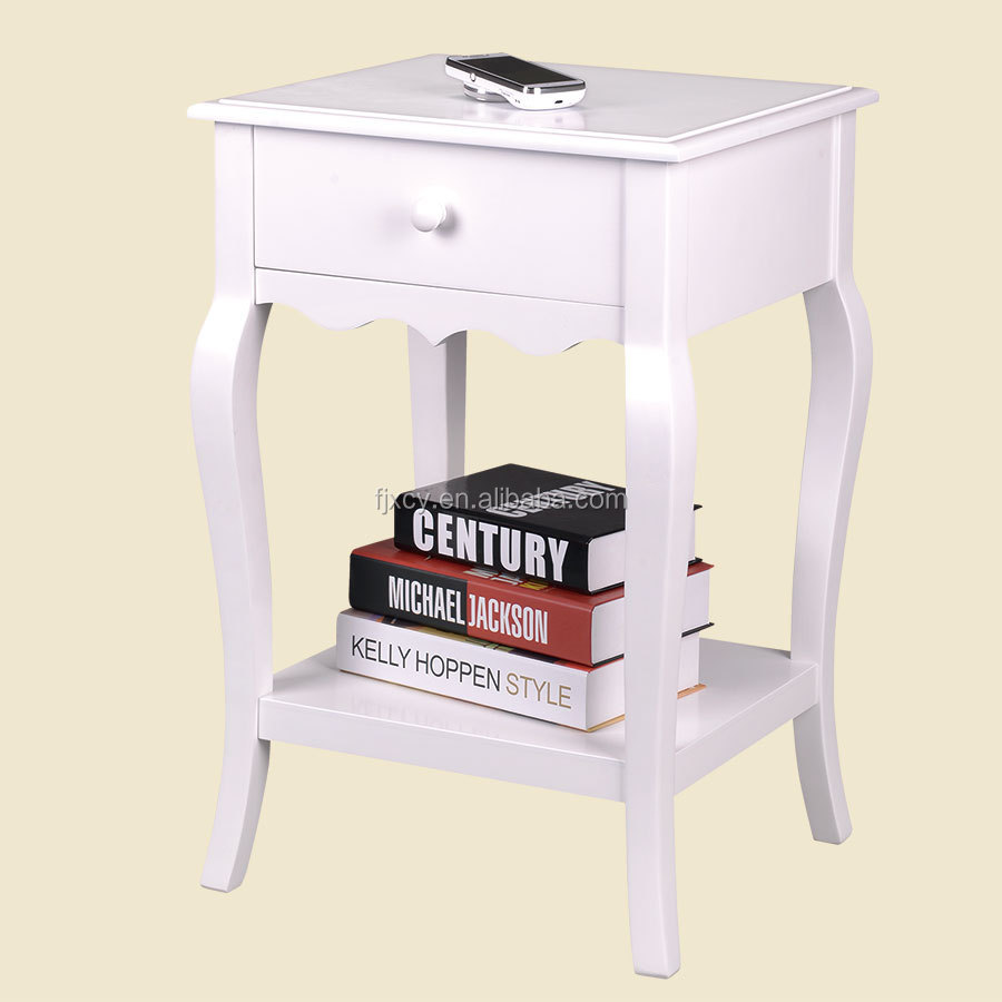 Rustic French Country White Painted Shabby Chic Furniture French - French country nightstand