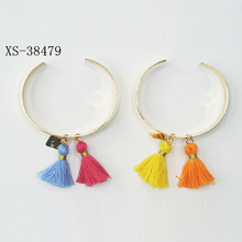 New Design Tassle Bangle Gold Plated Bangle Charm Friendship Bracelet