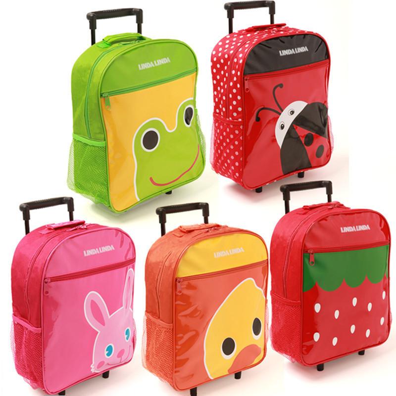 Cartoon Kids Rolling Trolley Luggage School Bag Suitcase Children ...