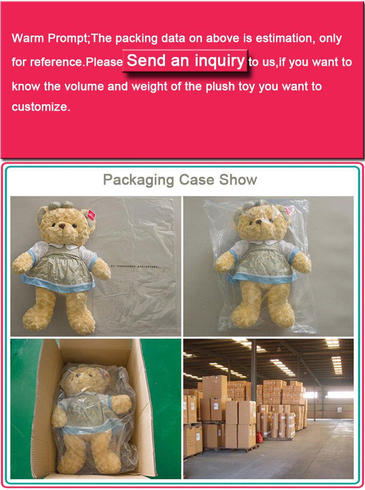 Custom Stuffed Dolls Kakao Line Friend Brown Bear With Dinosaur ...