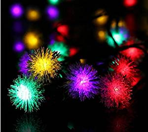 bc outdoor led christmas string lights solar chuzzle ball lights 30 led fairy light for garden - Outdoor Led Christmas Lawn Decorations