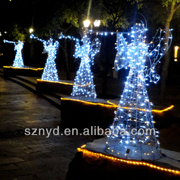 led angels for outdoor christmas decoration buy outdoor christmas decorationled light christmas angeloutdoor lighted christmas angels product on - Led Light Christmas Decorations