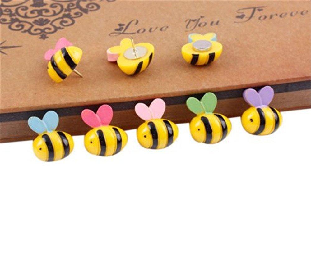 Kangkang@ Bee Design Pushpins Drawing Pin 10 Pcs for shcool or office, random color