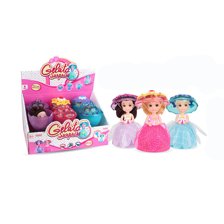 Lovely cup cake gelato surprise fashion <strong>doll</strong> with light and music DO86402389