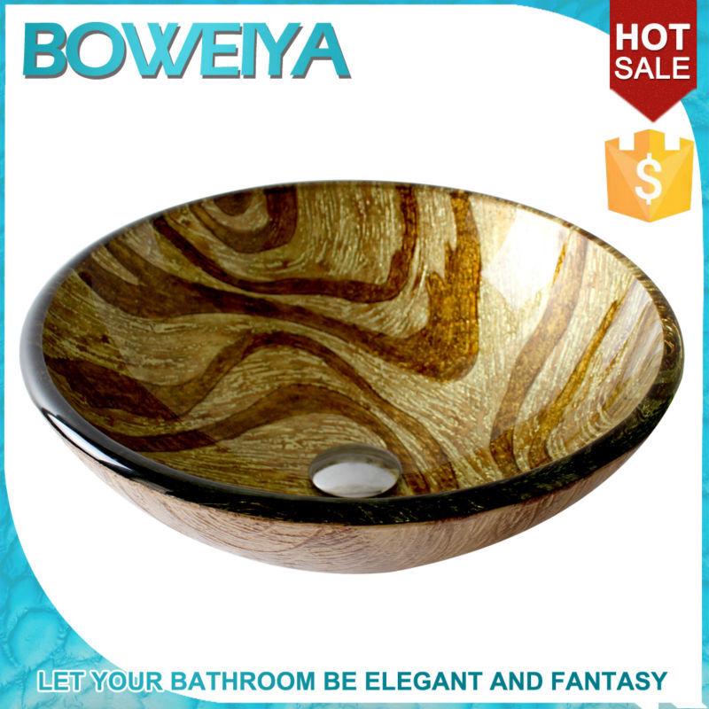 venta caliente lavabo de cristal bao aparatos sanitarios lavabo de cristal vasos de vidrio